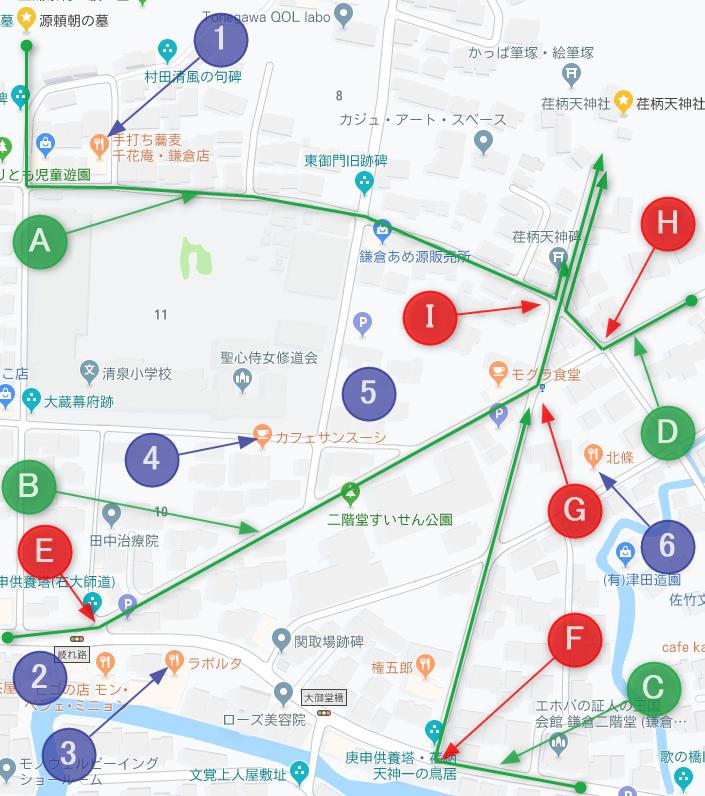 荏柄天神社周辺地図