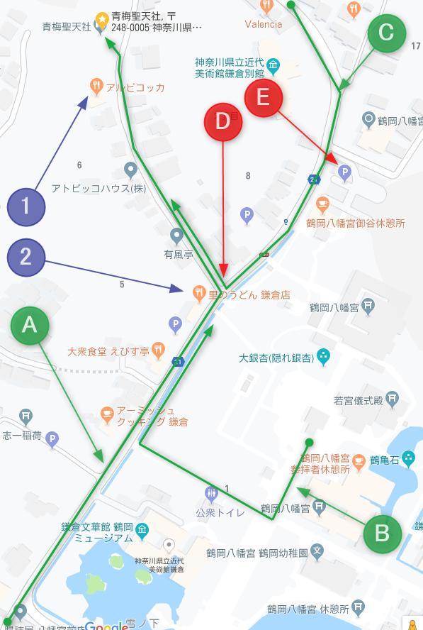 青梅聖天社周辺地図