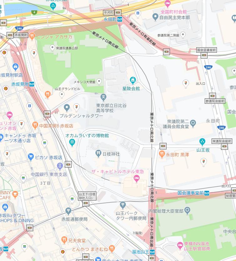 日枝神社地図