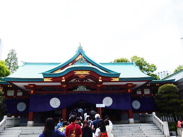 5.日枝神社拝殿